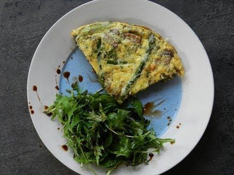How to Make Mushroom and Asparagus Frittata