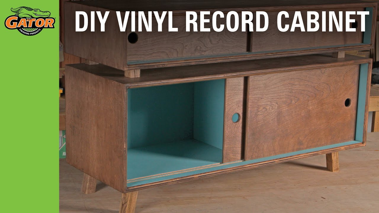 DIY Vinyl Record Cabinet