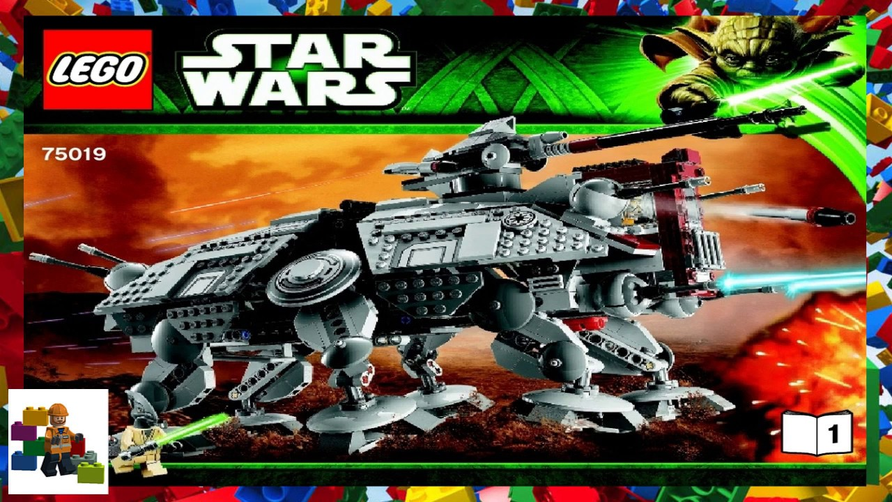 Lego Instructions Star Wars 75019 At Te Book 1 Youtube