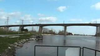The Saginaw River in Zilwaukee, MI