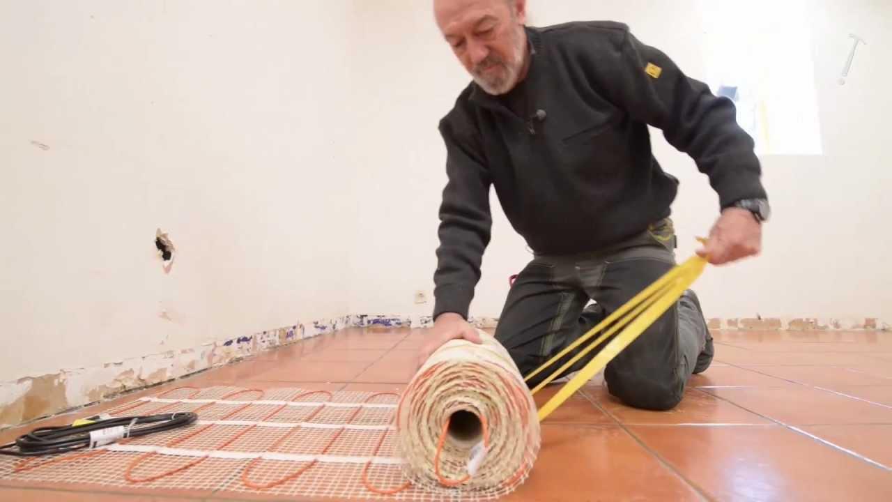 Plancher Chauffant Electrique Sous Un Parquet Colle Bricolage Avec Robert Youtube