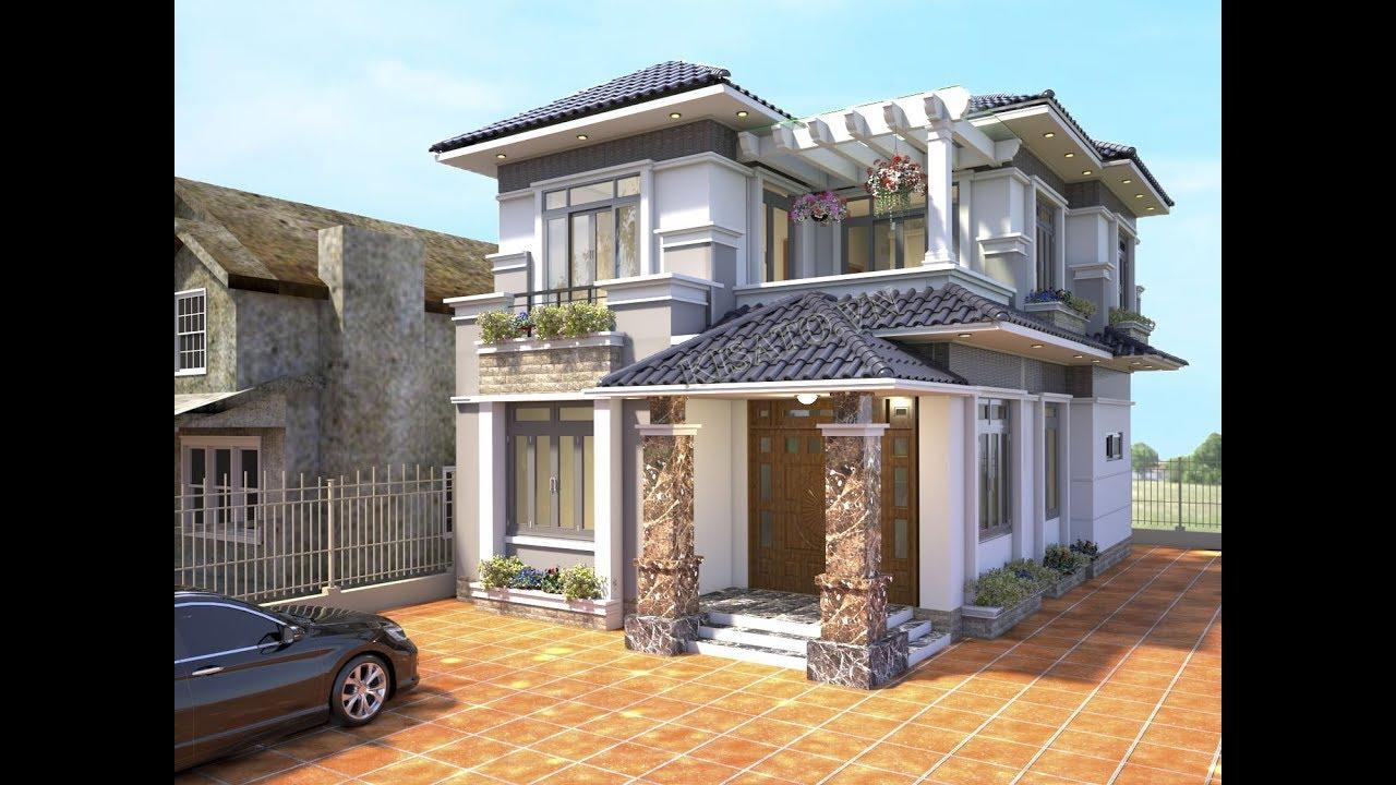 Choáng Với Mẫu Biệt Thự 2 Tầng Mái Nhật Đẹp Như Mơ Tại Khoái Châu Hưng Yên