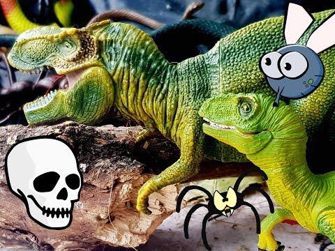 ПЕЩЕРА УЖАСОВ И ТИРАННОЗАВР????????????ДРАКОН-КОЛДУН! Мультики про динозавров