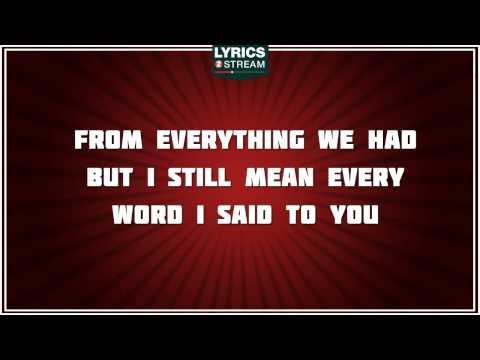 Haunted - Taylor Swift tribute - Lyrics