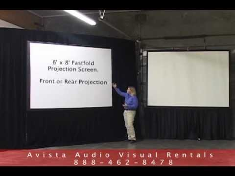 6 X8 Fastfold And 8 Tripod Projection Screen Overview