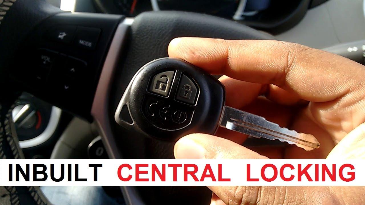 Maruti Suzuki Celerio ZXI  Inbuilt Central Locking (Car's Key)  YouTube