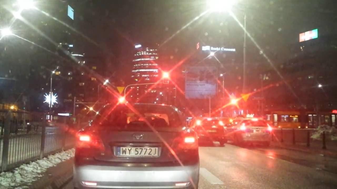 Driving through Warsaw Downtown 5 / поездка в Варшаву 5 / Autofahren in Warschau 5