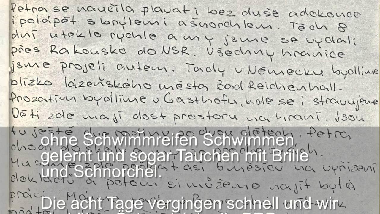 Eine Flucht Ein Urlaub Jaromírs Brief An Die Eltern Youtube