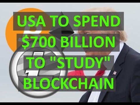Trump Signs $700 Billion Bill  to Study Blockchain