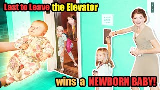 Last to Be FOUND ON the Elevator Wins CUTE Newborn BABY with That YouTub3 Family!