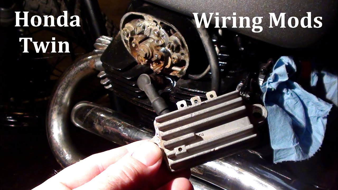 honda twin wiring mods rectifier and regulator project bike pt 4 rh youtube com honda cb350 twin wiring diagram honda cd 125 twin wiring diagram
