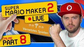 🔴 SUPER MARIO MAKER 2 ONLINE 👷 #8: Vernetztes Spielen | Bis Rang B | Live