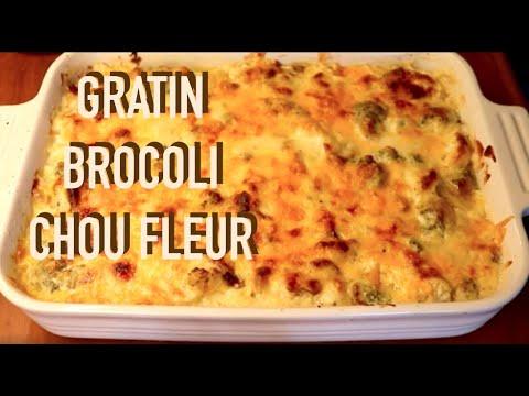 gratin-crémeux-de-brocoli,-chou-fleur,-béchamel-&-lardon-fumé---recette-#203