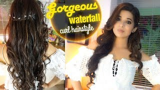 Gorgeous Waterfall curls HAIRSTYLE | High Fashion Trending 2018