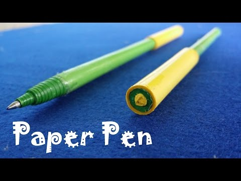 How To Make A Very Cool Paper Pen | Repairing Pen