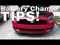 2017 Mustang Battery Change - Do's and Don'ts