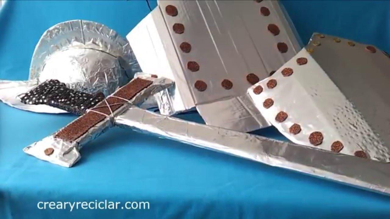 Armadura de conquistador con cartón - YouTube