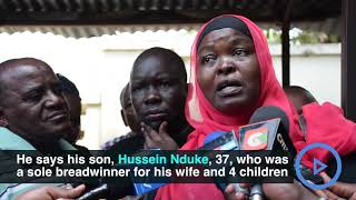 Family in changamwe mourn son killed by police