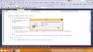 C# Tutorial : Create Login Form with Access Database | FoxLearn