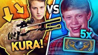 JACOB KURA VS 5X GLOBAL ELITE (WIDZOWIE) w CSGO! NOWY TRYB w CS:GO