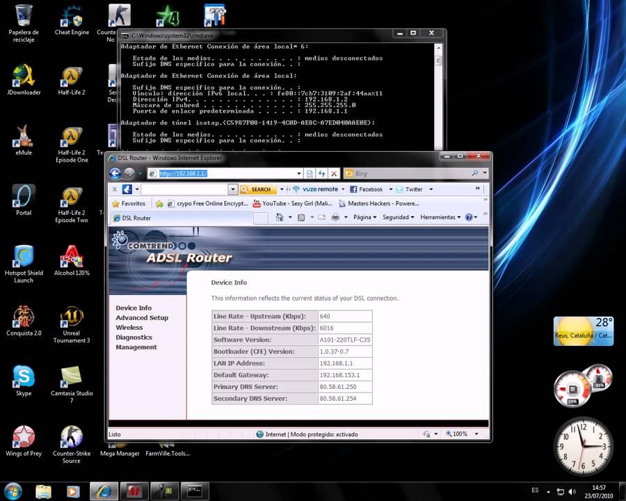 Configurar router para troyano (SpyNe t2 7)