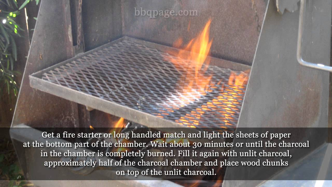 how to add charcoal to a smoker