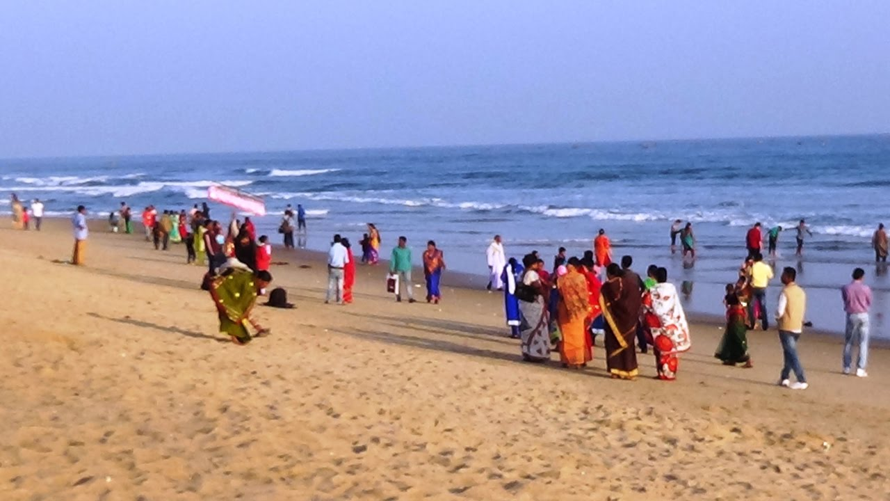 Chandrabhaga Sea Beach at Puri Odisha India - YouTube