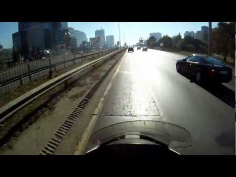 Sofia - Orlov most to City ring - You Travel in HD - POV from motorcycle