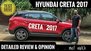 HYUNDAI CRETA 2017 FULL DETAILED REVIEW IN HINDI TEST DRIVE HONEST OPINION
