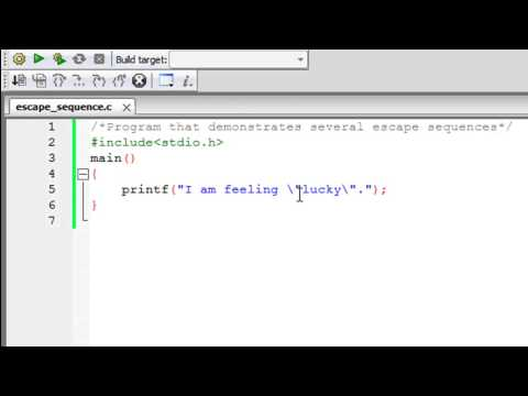 C Programming Tutorial - 25: Escape Sequences