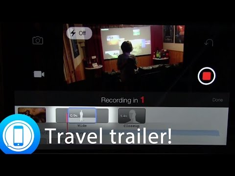 Kids projects: Make a vacation travel trailer with iMovie on your iPhone or iPad!