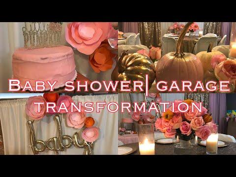 Baby Shower In The Garage?!?   Beautiful DIY decor Transformation   Little Pumpkin Themed