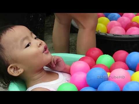 Mandi Bola Lucu - Mainan Anak Ball Pit Show  - Fin Fun Mermaid Tail - Kompilasi Lifia Niala