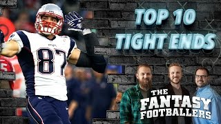 Fantasy Football 2016 - Top 10 TE + Sleepers, Fantasy Game, News - Ep. #249