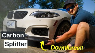 Properly fitting a Carbon Fiber Splitter on your 2 Series...