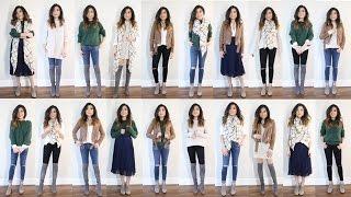 10 Pieces = 20 Looks   2016 Fall to Winter Capsule Wardrobe Minimalist   Miss Louie
