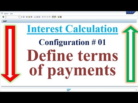 Interest Calculation Config 01 Define terms of payments