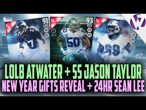 Madden 16 LOLB STEVE ATWATER + SS JASON TAYLOR + 24hr SEAN LEE - GIFT REVEAL FOR NEW YEARS