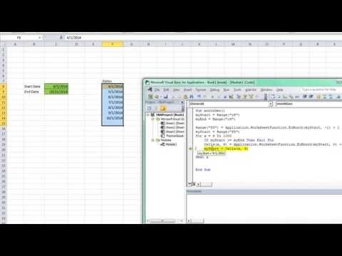 Loop From Start Date to End Date in Excel VBA - SOLVED!