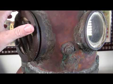 Antique Deep Water Homemade Diving Helmet - 1 Of A Kind!