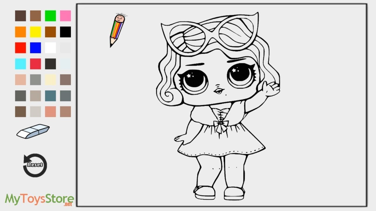 lol surprise dolls coloring  lol leading baby coloring