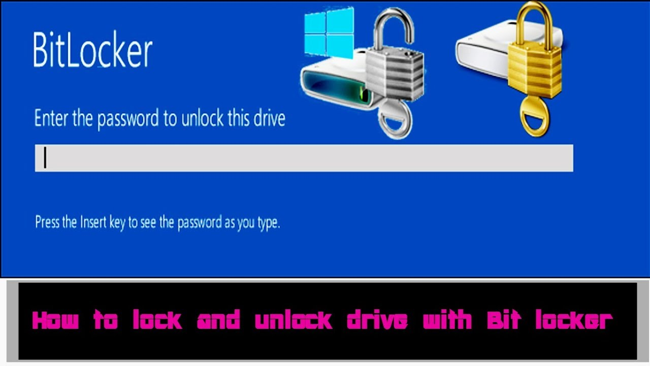 how to lock and unlock  a pc drive