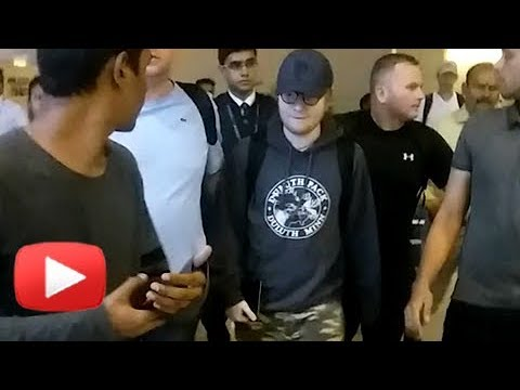 Ed Sheeran Reaches Mumbai Amidst Heavy Security | Ed Sheeran Mumbai Concert