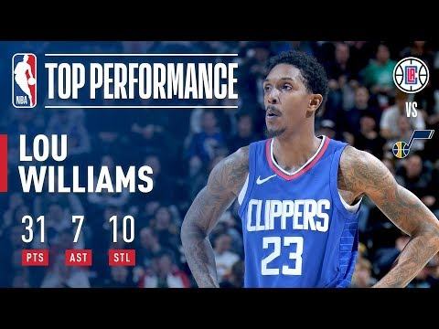 Lou Williams Puts Up 31 Points & 10 Steals vs The Jazz