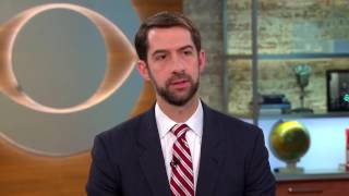 Sen  Tom Cotton discusses angry constituents he faced at town hall with CBS News Clips Feb 23, 2017