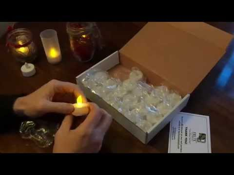 Flameless LED Tea Lights - Better Than Expected.  My Review
