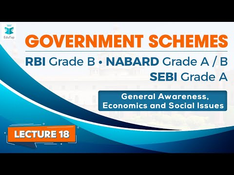 Government Schemes through MCQs for GA&ESI - Lecture 18| RBI Gr B | NABARD Gr A | SEBI Gr A