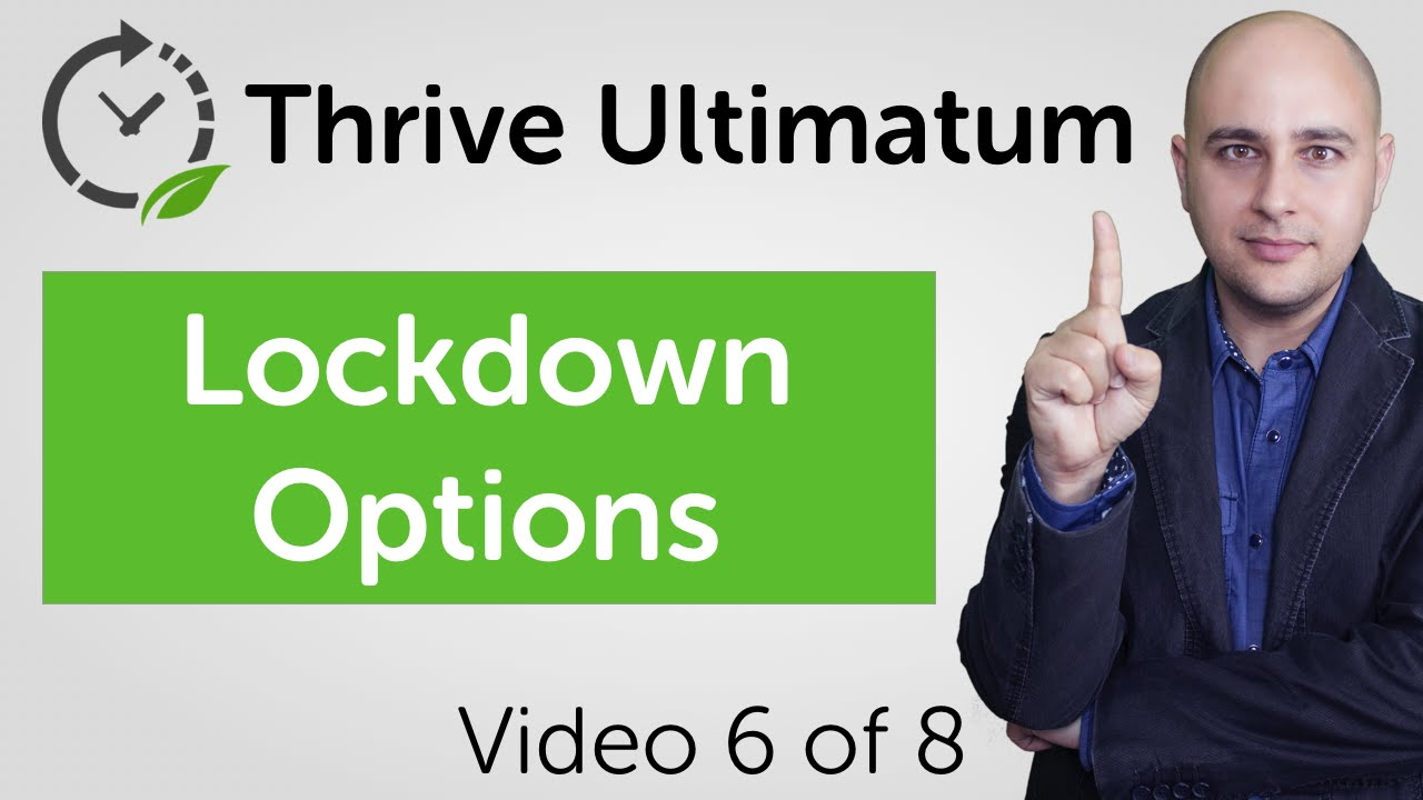 Thrive Ultimatum Review Video 6 of 8 - Lockdown Options To Prevent Promo Sharing