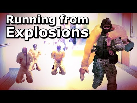 CS:GO - Can You Escape A BOMB Explosion In 1 SECOND?