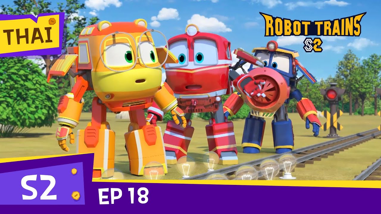 Robot TrainS2 | #18 | Only once a year! Fireworks Festival! | Full Episode | Thai robottrains2
